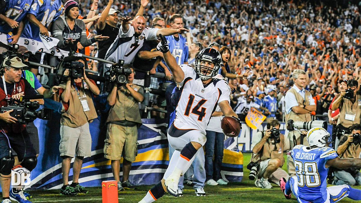 Best. Comeback. Ever.  We're reliving our 2012 #MNF win over the Chargers tonight at 6:30 p.m. MT on YouTube.  Tune in » https://t.co/M0IBn1AAgz https://t.co/G0k4E7R4ZC