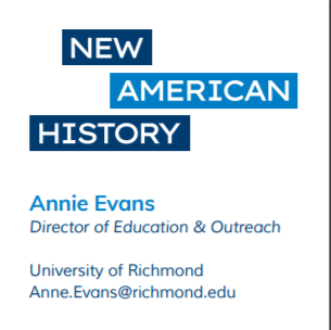 Annie from Cville and @NewAmericanHist #engsschat