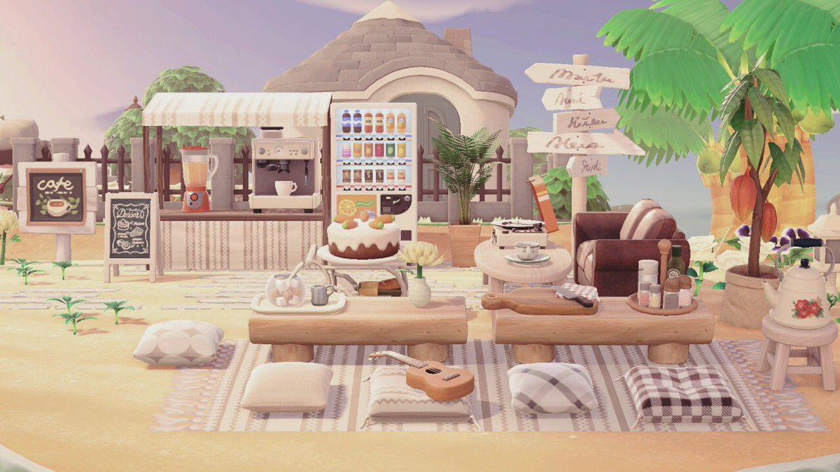 Mousey On Twitter A Cozy Beach Cafe Table Setup Inspired By Poppypier Acnh Animalcrossing Animalcrossingnewhorizons