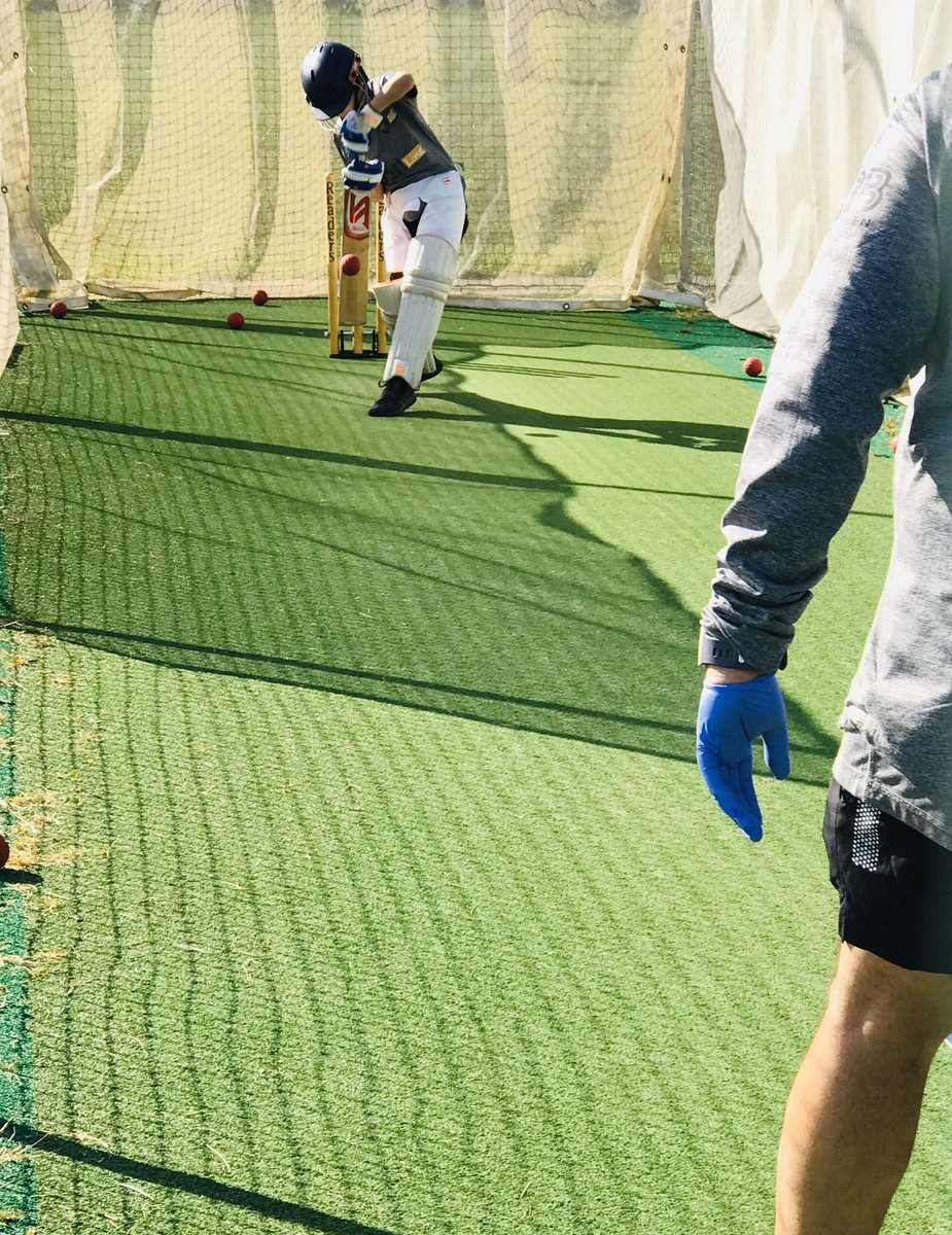 First day back out. #Cricket #lockdown #coaching pic.twitter.com/W28gr4Eo4N
