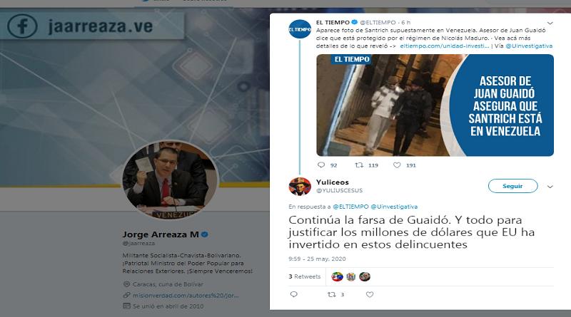 Jorge Arreaza: Gobierno de Duque desempolva disco rayado para desviar atención de su financiamiento a mercenarios #RedoblemosEsfuerzoYPrevención vtv.gob.ve/jorge-arreaza-…