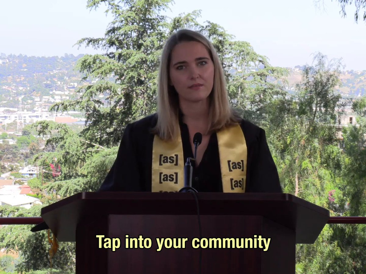 The host of Soft Focus offers sharp career advice for the class of 2020. @JenaFriedman  #ASCommencement