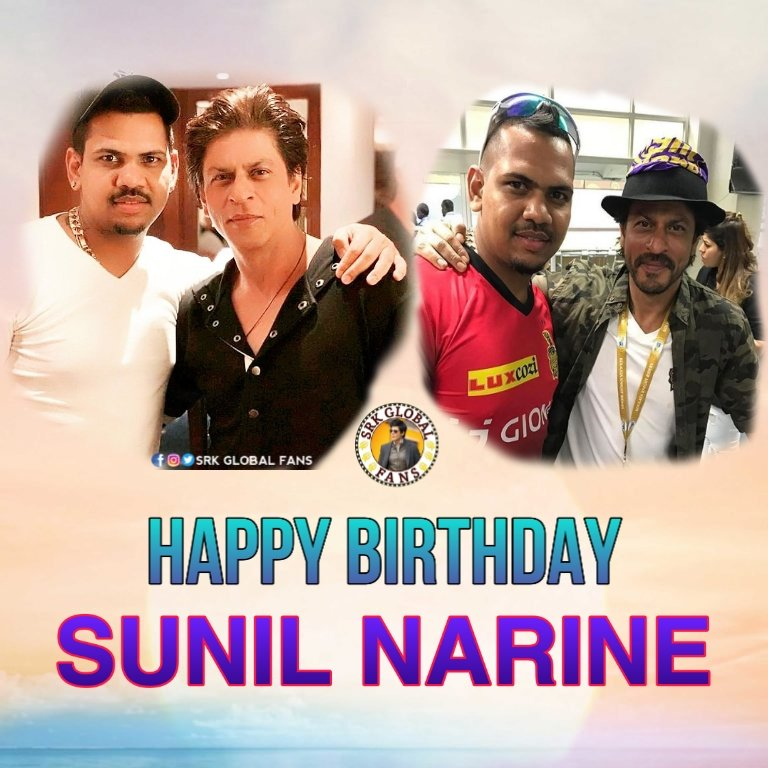 Happy Birthday @SunilPNarine74 Champ. Proud to have this gentleman in our @KKRiders. Keep smashing & in top always. Stay Blessed Champ.  #HappyBirthdaySunilNarine @KKRiders<br>http://pic.twitter.com/7lh3tmxGvJ