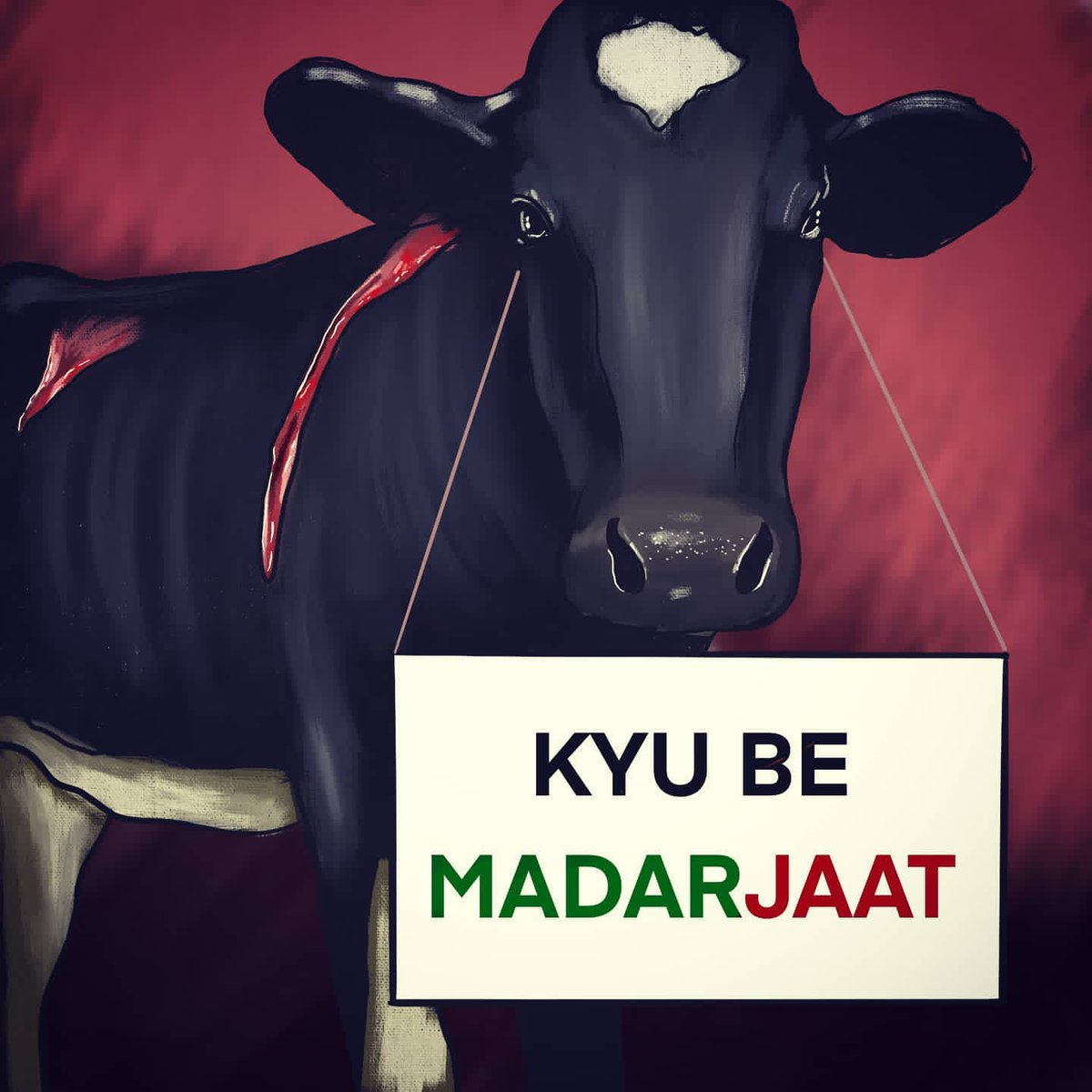 KYU BE MADAR JAAT! We have seen the massive slaughter of cows in Ahmedabad at Roopamati Mosque where 1,500kg of cow and Buffalo meat was illegal being sold. That video was soul shaking when police did a raid and saved many other cattles. #cow #slaughterhouses #greenhouse