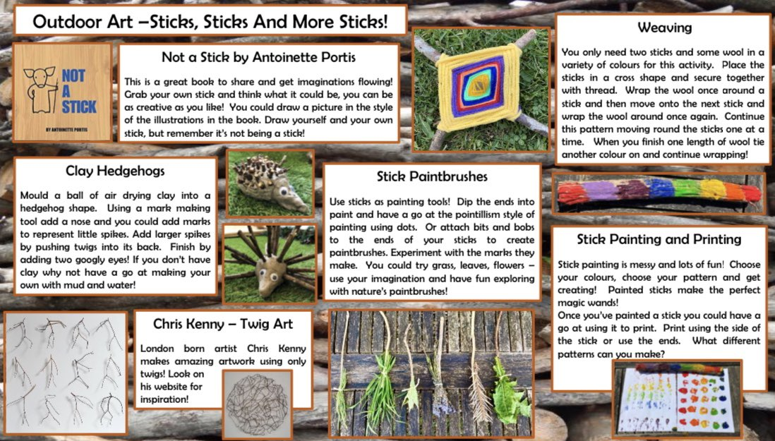 Here with go with outdoor art ideas number 6 - Sticks, sticks and more sticks!
