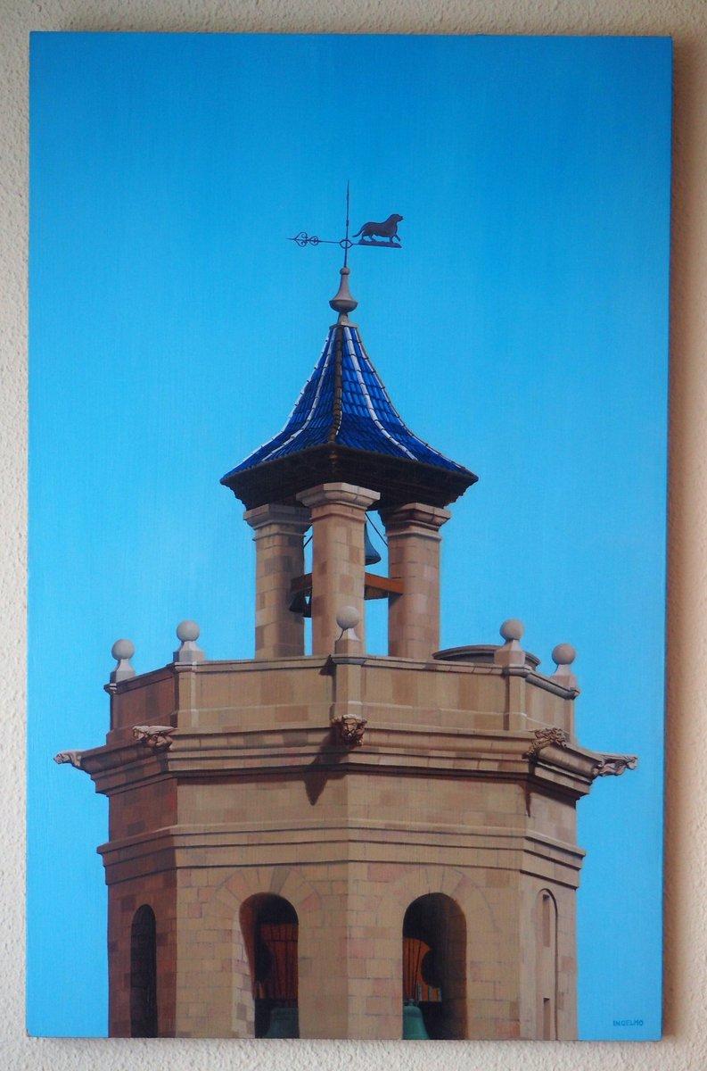 Abrimos la #exposiciónvirtual #RealCasinoAntiguo patrimonio de #Castellón con una obra que nos trae la  cúpula del Fadrí pintada en óleo sobre tabla por el diseñador y reputado cartelista, Juan Ingelmo La imagen nos la facilita su propietario @Jjtrilles  #arte #cultura https://t.co/nlG04XI92e