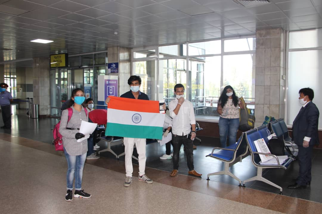Indian nationals evacuation from Kyrgyz Republic commences with Air India 1952 with 133 Indian nationals onboard under GoIs Flagship #VandeBharat Global initiative @PMOIndia @DrSJaishankar @MEAIndia @IndianDiplomacy @MFA_Kyrgyzstan