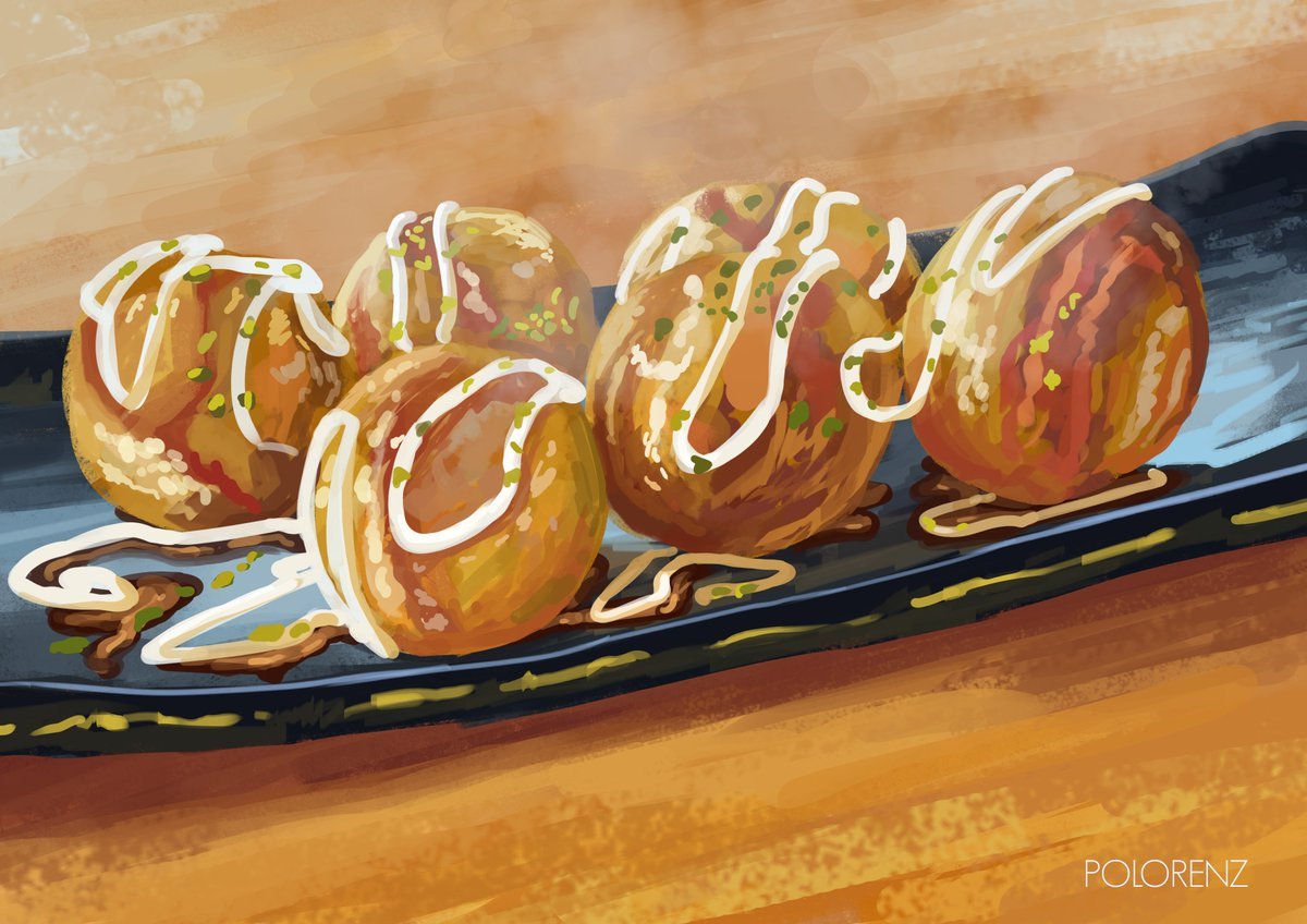 I miss takoyaki  #foodart #illustration pic.twitter.com/CR0Hwm0cMB