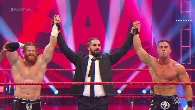 Victoria de los discípulos del Mesías en WWE Raw.
