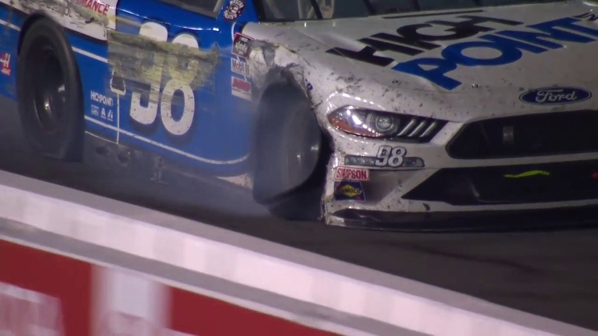 Heavy damage for Chase Briscoe in Charlotte. Here's what happened: