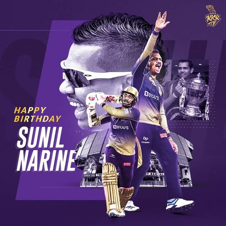 Whishing you a very happy birthday #SunilNarine #HappybirthdaySunilNarine <br>http://pic.twitter.com/ng1q5r1Hck