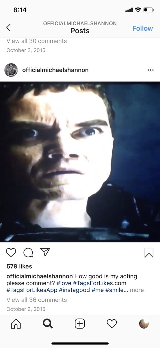 Happy to say I finally found Michael Shannon's Instagram and he's not afraid to get real with his followers #love pic.twitter.com/y7pO6uwLs0
