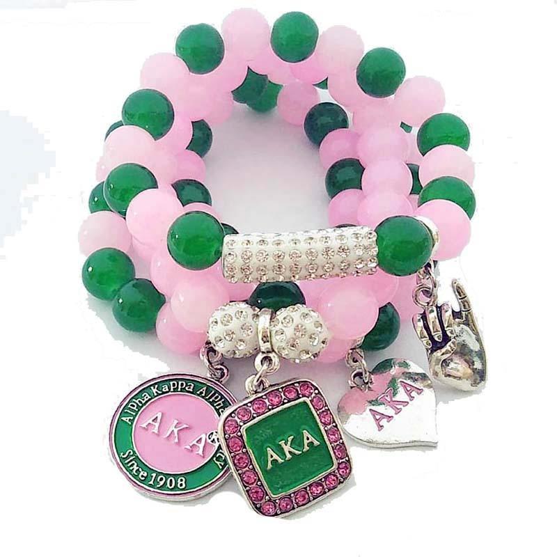 Jewelry Accessory Sorority Fraternity Multilayer DIY Charm Beads Bracelet! Buy here  #jewelrytrends #womenjewelry