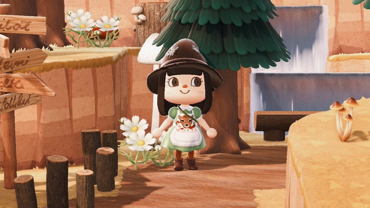 First design from my new collection...The Fawn Forager dress! A sage linen dress with a fawn embroidered apron, with a large pocket boasting freshly foraged mushrooms.  #ACNHDesigns #acnh  #AnimalCrossingDesigns #animalcrossing <br>http://pic.twitter.com/Q8YO2DYOb7