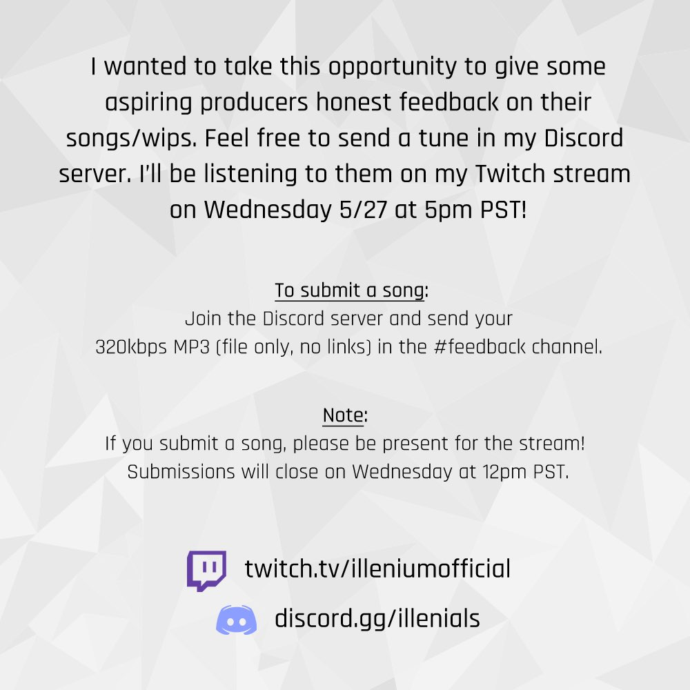 Doing a feedback stream Wednesday on twitch!