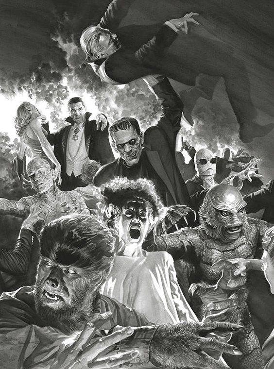 Alex Ross is a well-renowned American comic book writer/artist known primarily for his painted interiors, covers, and design work. Ross' icons of the monster horror genre, Classic Universal Monsters, premiered at SDCC in 2017. <br>http://pic.twitter.com/J2Re8BunvT