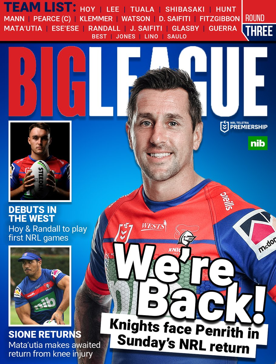 Our team for Round 3 has has some big news!! #GoHardGoKnights #NRL #UKNIGHTED