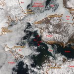 Image for the Tweet beginning: Dynamic Suomi NPP truecolor image