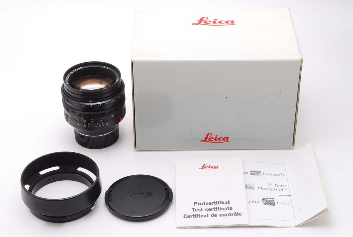Hi there, this is a new listing!  Leica NOCTILUX-M 50mm f/1.0 E60 11821 https://japonicamera.com/ab-exc-leica-noctilux-m-50mm-f-1-0-e60-lens-11821-canada-box-from-japan-6283/ …   With many accessories such as Box and Hood,  please don't miss it.  Also, there are many Leica lens on Japonicamera. https://japonicamera.com/35mm-rangefinder/leica/?sort=newest …  #Leica  #NOCTILUX #Rangefinder #lenspic.twitter.com/8vjlmrZT9H