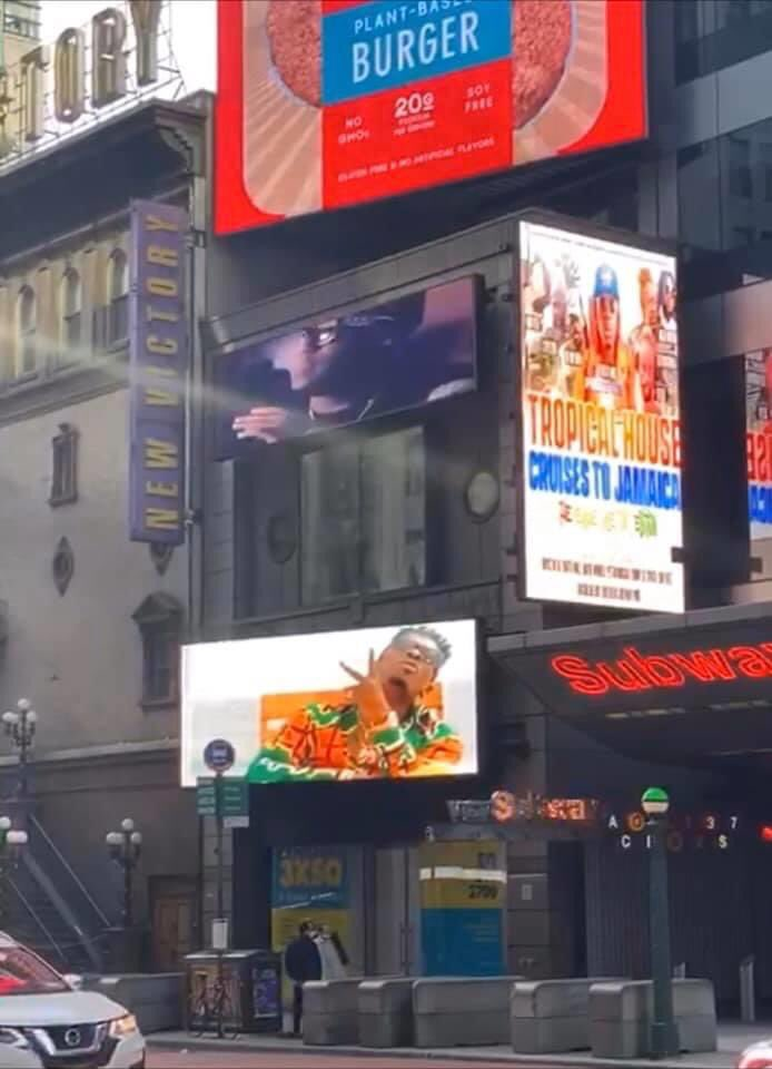 Shatta Wale becomes the first Ghanaian musician to be featured on New York Times Square giant poster