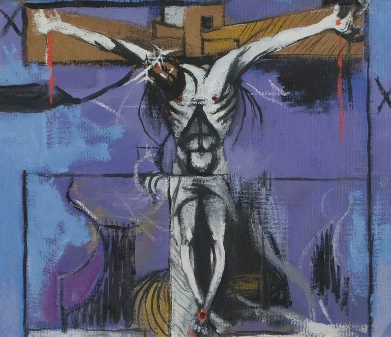 Sketch for 'The Crucifixion', 1946 #surrealism #grahamsutherlandpic.twitter.com/NW5Qb6L7TN