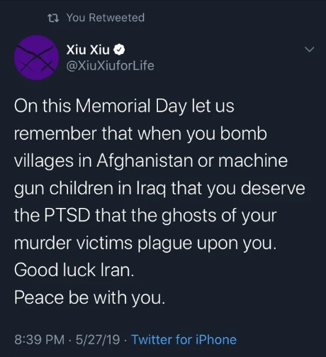 On Memorial Day be careful what you remember... #NoWarWithIran  #NoWarButClassWar https://t.co/xvZgXKUUqI