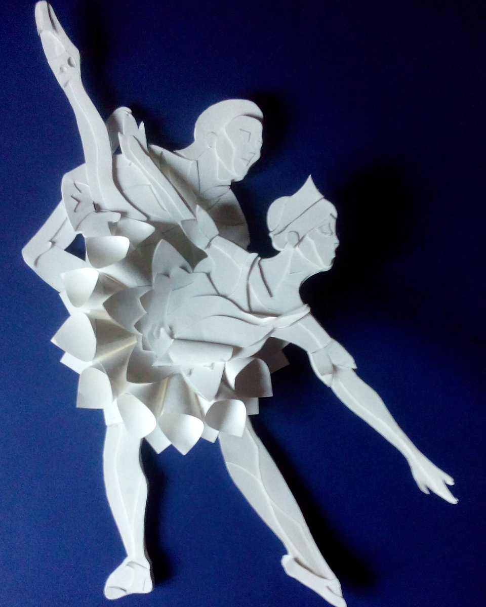 Day 3 I was nominated for the 10 day life is good photo challenge 10 photos everyday I share an image that's meaningful to me without an explanation #lifeisgoodchallenge #life #art #meanigful #papersculpture #artist #paper #blue #project #design #love #ballet #memory #myart