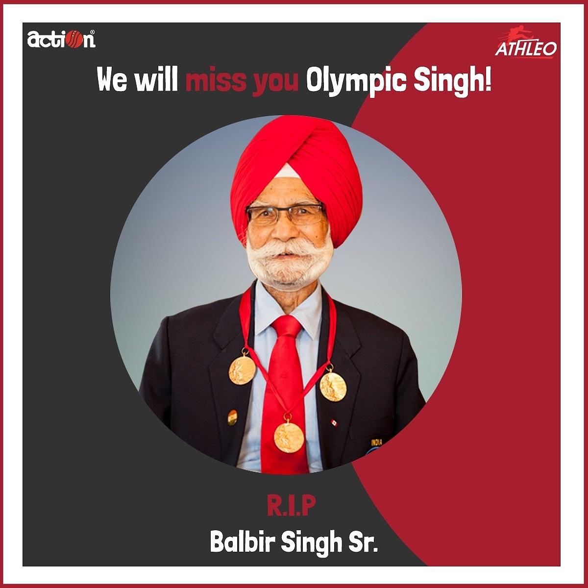 Rest in peace champion.   #balbirsingh #olympics #hockey #indiansports #rip #athleoshoes #actionshoes #icon #legend #Coronamemes #quarantined #ShoeShopping #Shoes #Confidence #Fitness #Age #Fit2020 #shoeaddict  #IndiaFightsCorona #letsfightcoronavirus #inthistogether #curfews https://t.co/VP8dNfTBVR