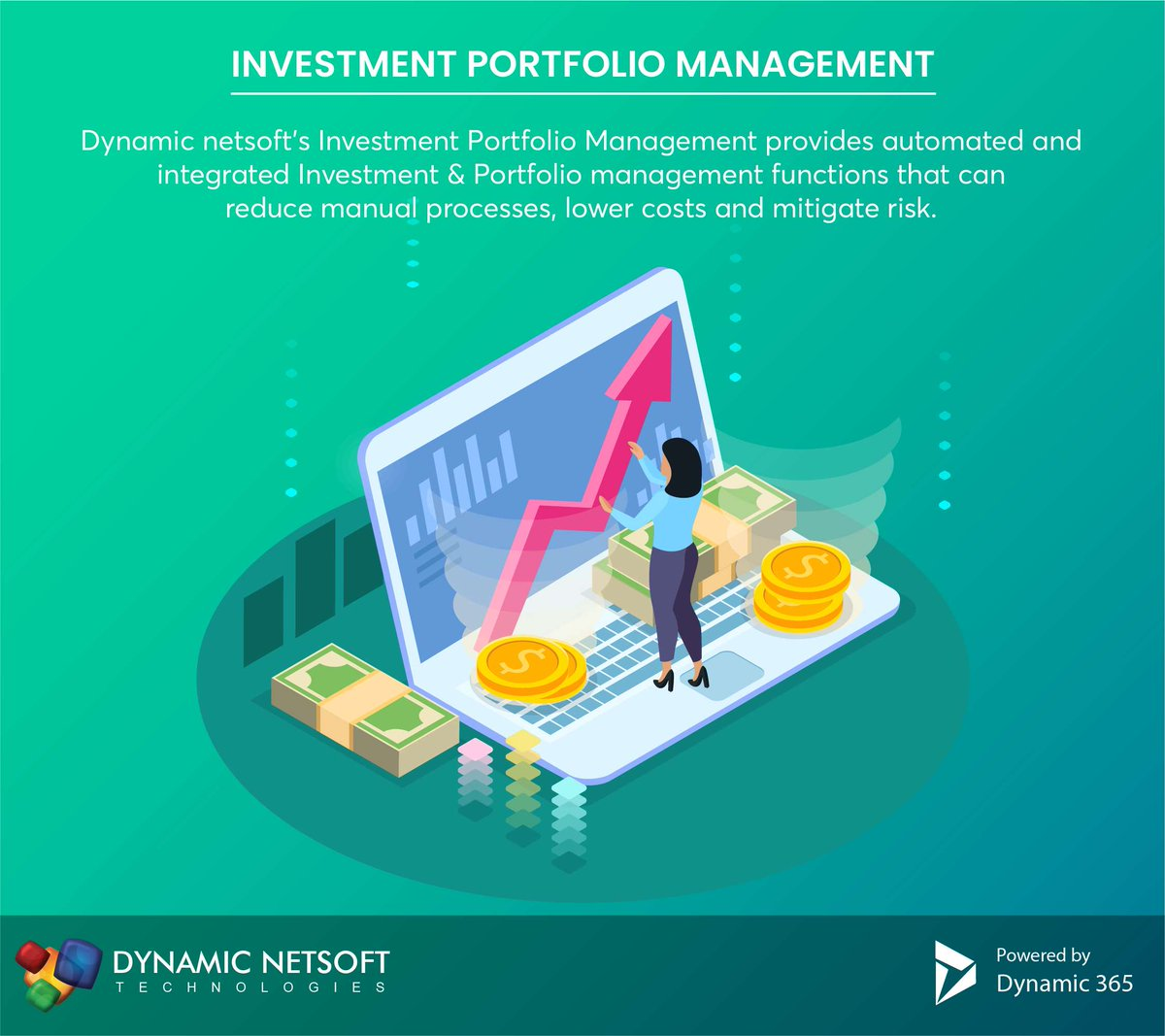 Dynamic Netsoft's Investment Portfolio Management provides automated and integrated investment & portfolio management functions that can reduce manual processes,lower costs and mitigate risk.More  http:// stuf.in/b2nbg1         #IPM #Dnetsoft #Microsoftpartner #microsoftgoldpartner <br>http://pic.twitter.com/RljLZ2oDkp