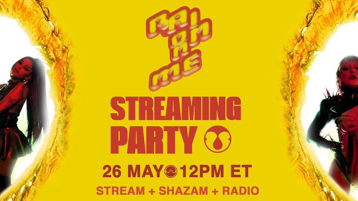 nobody's starting streaming parties so fuck it i'm starting one myself!   #RAINONME STREAMING PARTY  26 MAY, 12PM ET    this will be a huge combined effort party with streaming, radio requests and shazaming!   instructions below, help me spread the word by RTing pic.twitter.com/TGSyJ1FKSa