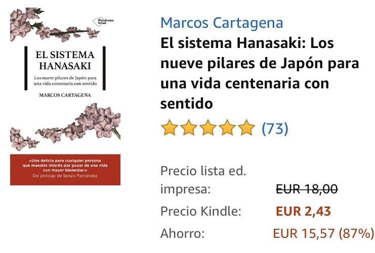 📖 > EL SISTEMA HANASAKI de @MCartagenaaa hoy en #KindleFlash a 2,43€  🛒 >> https://t.co/N5TWkzpBeg  @PlataformaEdit #ayuda #autoayuda #crecimientopersonal #hanasaki #enseñanzas #cultura #japonesa #leer #queleer #lectura #libro #ebook #kindle #kindlebook #amazon #FelizMartes https://t.co/iD11LGFCQ9