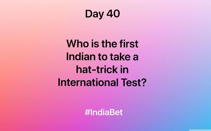Day 40!   Comment thr right answer & win 3000 IBR!   #ContestAlert #SportsNews #CricketConnected #CricketQuiz #TestCricket #Indian #Hattrick #TeamIndia https://t.co/87AvfgweDb