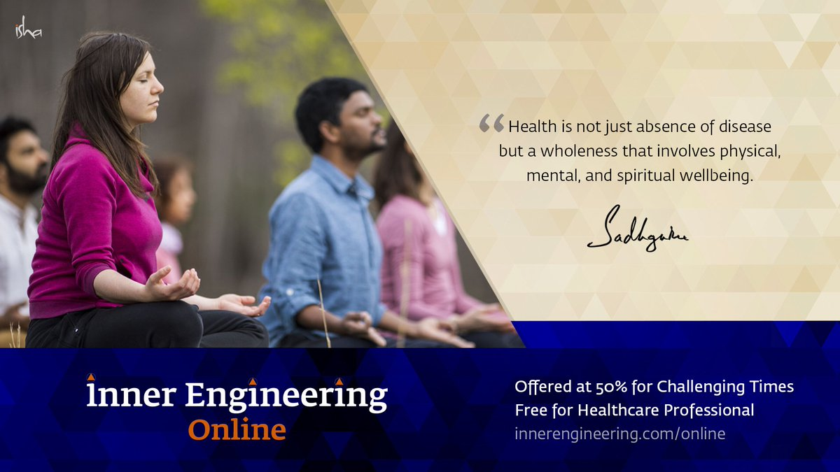 Acomprehensive course for personal growth that brings about a shift in the way you perceive and experience your #life, your #work, & the world that you live in.  To know more http://innerengineering.com/online  #yoga #meditation #TuesdayMotivaton #healthylifestyle pic.twitter.com/D3UGaVNkcR