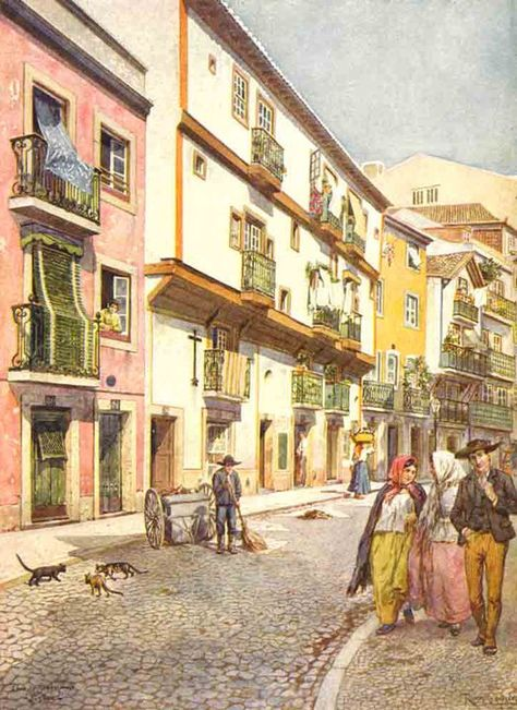 #Lisbon in 1914 Painted by #RoqueGameiropic.twitter.com/uBR6mTEumv