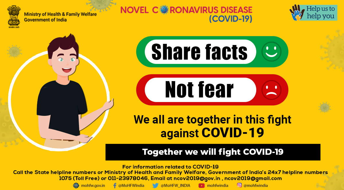Don't spread rumours spread what is right and correct Let us unite and fight this #Covid19 pandemic.  #SwasthaBharat #sayyes2precautions #MoDAgainstCorona #StayHomeIndia #IndiaFightsCoronapic.twitter.com/UuzbDykB4G