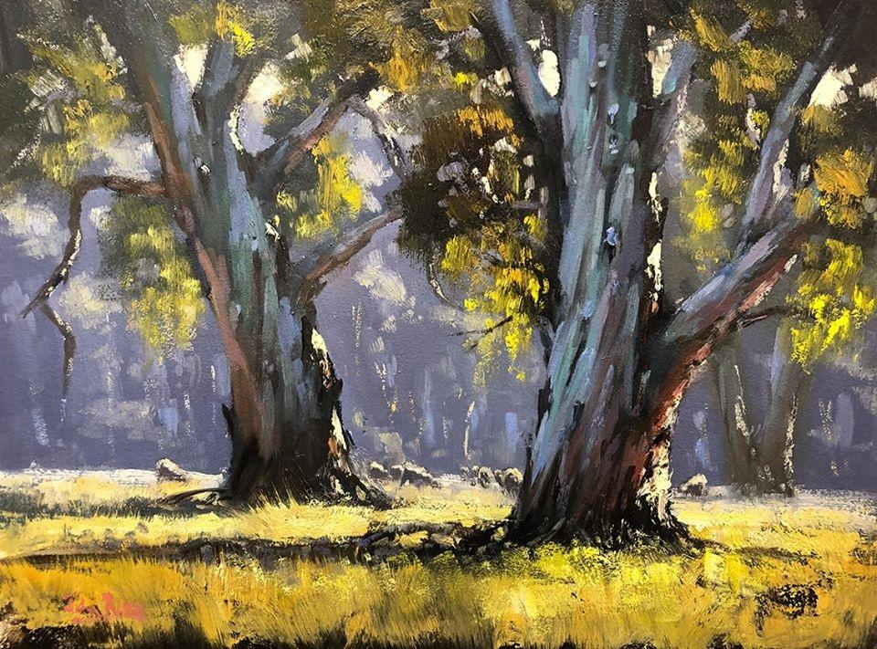 'Sunny Morning, Wangaratta' by John Rice #art pic.twitter.com/v10u3llSVJ