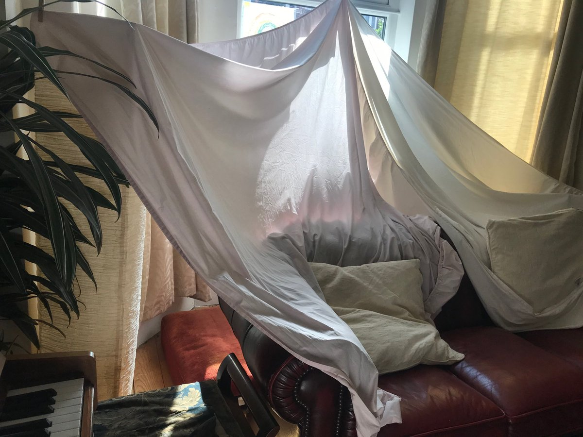 This den is my daughter's latest calming down space. Now, where's mine? #den #calm