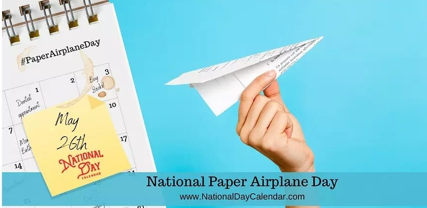 Today Is NATIONAL paper airplane day, let's star making and show what you have made @thewaitefamily #paperplanes #nationalday #vlog #vlogger #creativity #art #paperplanespic.twitter.com/0N1QMg0eHv