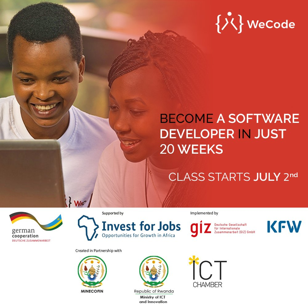 A great opportunity to not miss. Applications are still ongoing. Retweet to spread the news!   #Rwot #womenintech <br>http://pic.twitter.com/bH94e1ZV7H