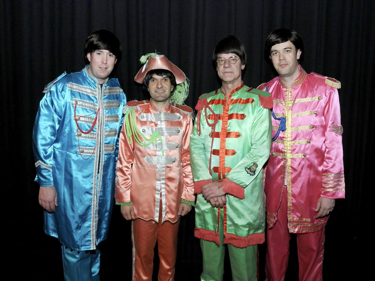 The Beatlez in their colourful psychedelic Sgt. Peppers outfits!!! #thebeatles #beatles #beatlez #band #music #fab #fabfour #sgtpepper #colour #psychedelic #colourful #paulmccartney #georgeharrison #johnlennon #ringostarr #musicians #tribute #style #goodmusic #instagood