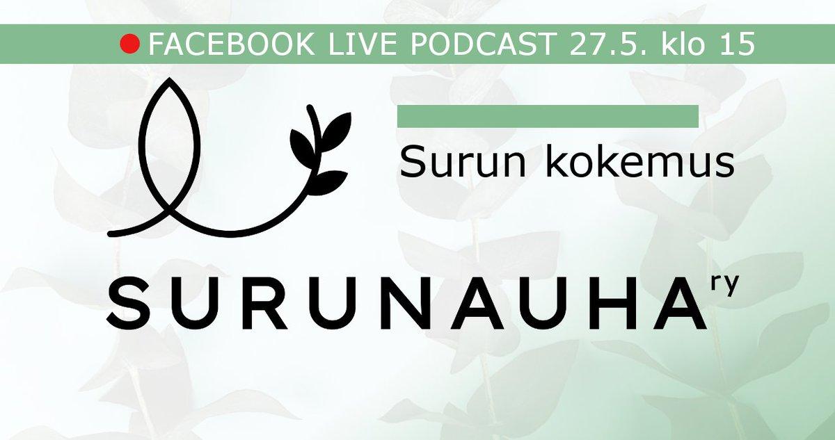 Tänään klo 15 @surunauha live-podcastissa on aiheena surun kokemus. Vieraana surututkija @MariPulkkinen. #suru #podcast #kuolema #itsemurha
