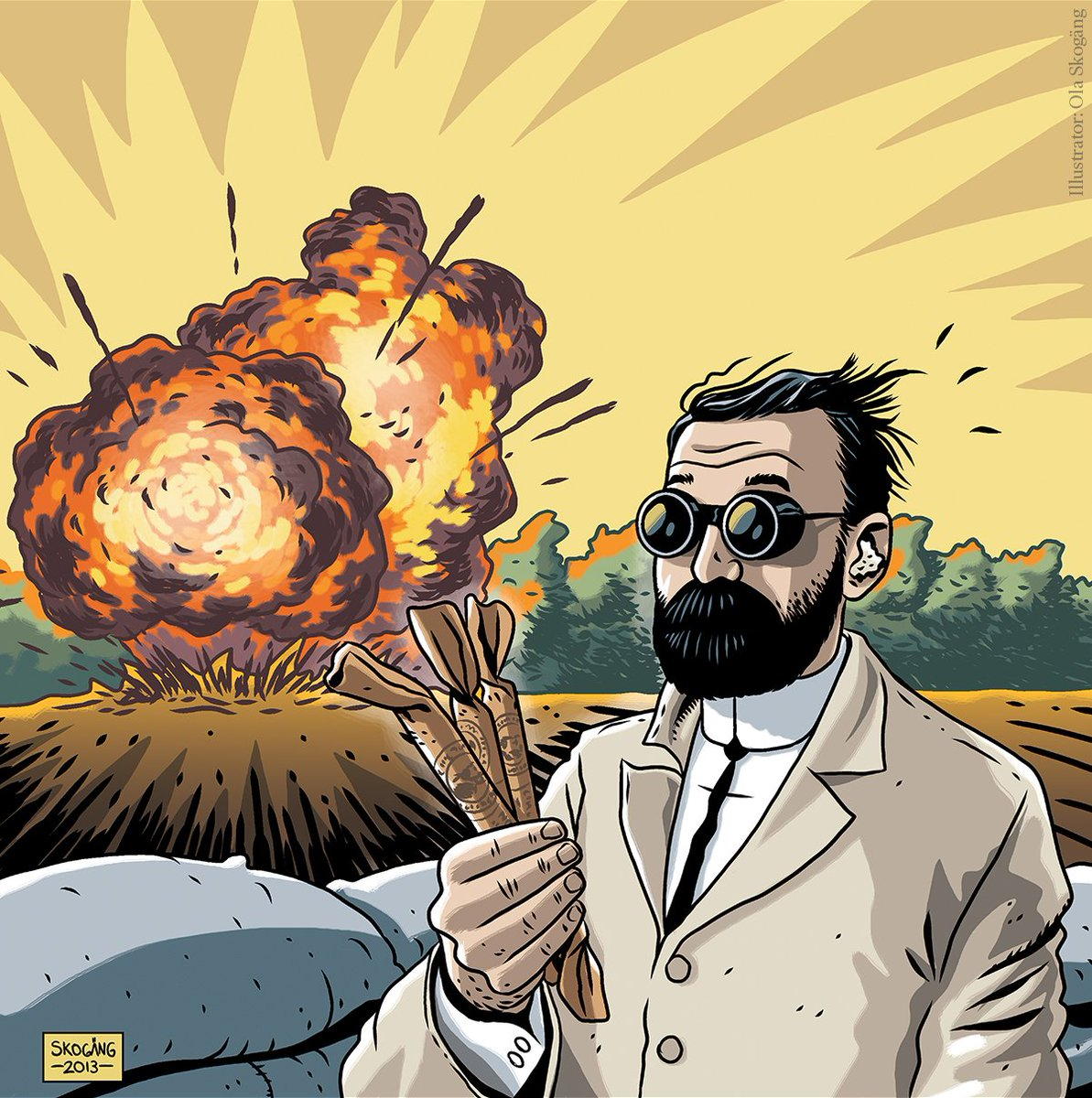 #OTD 152 years ago, Alfred Nobel obtained a U.S. patent on dynamite. The Swedish inventor and entrepreneur Alfred Nobel had acquired 355 patents worldwide when he died in 1896.  In his last will, he left much of his wealth to the establishment of the Nobel Prize. https://t.co/2mt4Xh5Z5a