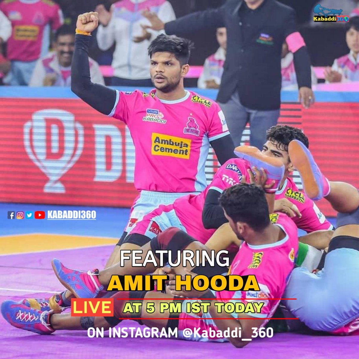 Catch @AmitHoodajpp LIVE on Kabaddi360's Instagram at 5 PM IST today!   #AmitHooda #Kabaddi360Live #Kabaddi360