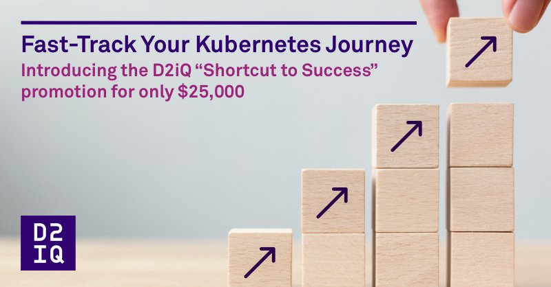 For a limited time, we are offering a special promotion to help you achieve your #cloudnative objectives faster and more cost-effectively than ever before! Learn more.  #Kubernetes #K8s #getstarted #Day2