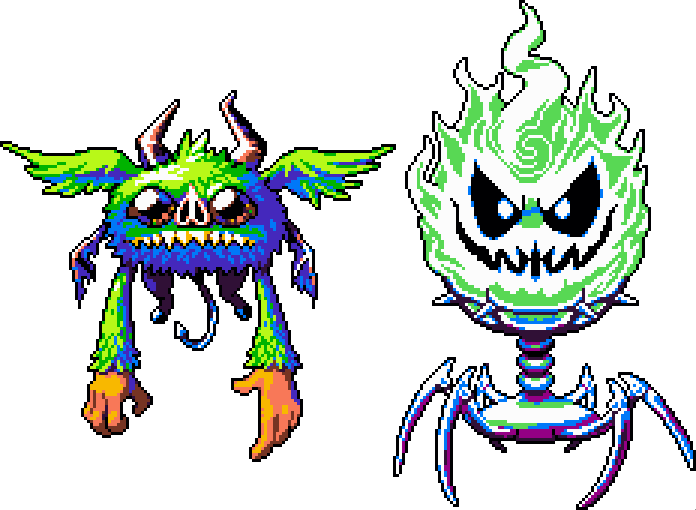 #pixelart a few more old sprites. From here on out it'll be all new sprites/artwork. <br>http://pic.twitter.com/P0HJX6T1l0