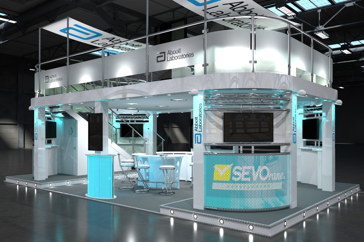This #exhibition #design was from a while ago. The stand was used at various locations all over Europe and in different configurations to fit a number of plot sizes. #3d #custom #booth #designer