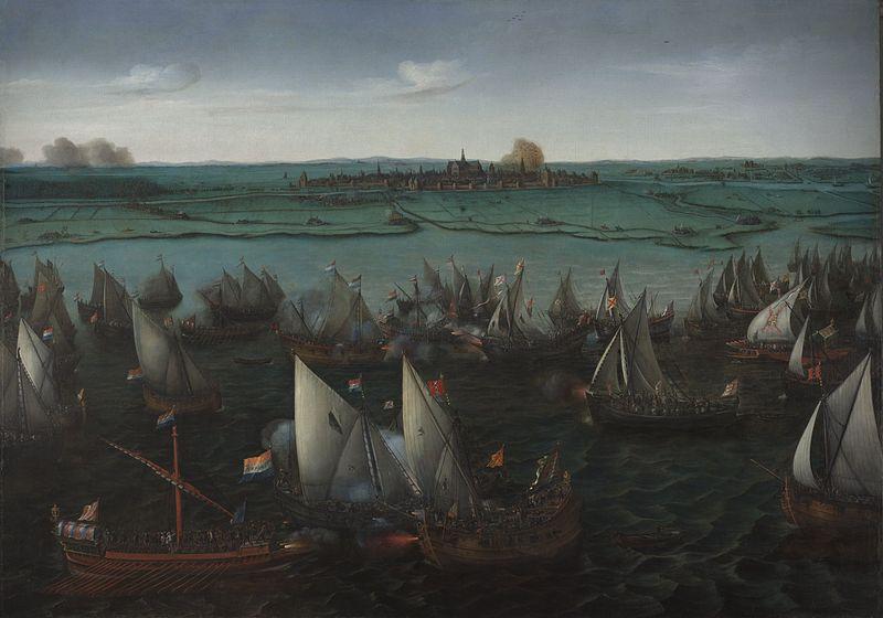 #TalDíaComoHoy en 1573 una flota española, comandada por el conde de Bossu, derrota a los Mendigos del Mar (piratas holandeses) en la batalla de Haarlemmermeer, en los Países Bajos. @Armada_esp https://t.co/zpuH5Std6r