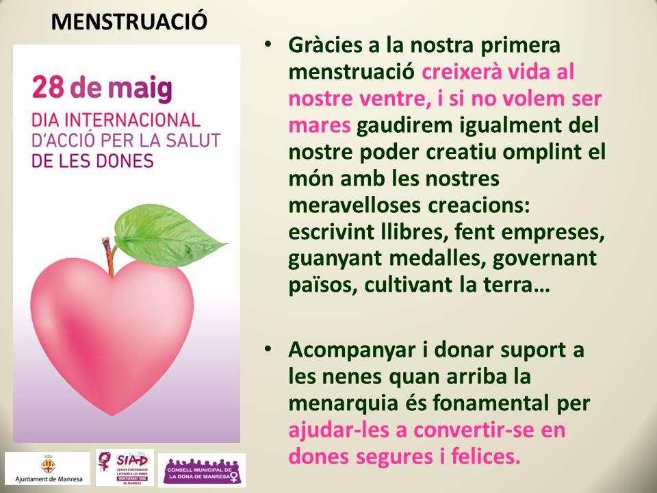 La #menstruació, 2a píndola informativa sobre la #salut i les #dones #28M  #MésSalutperlesDones https://t.co/DrN3u1RrFc