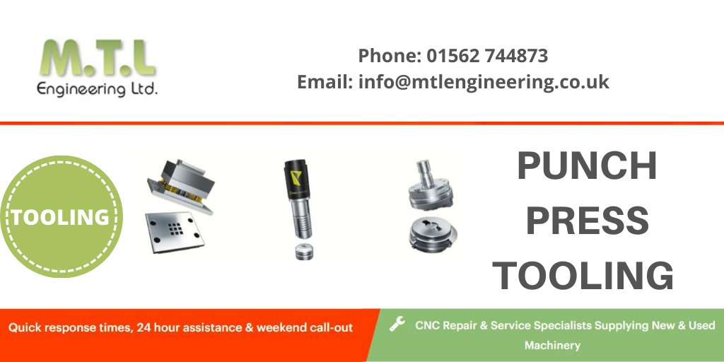 We have a huge range of Punch Press tooling available to buy at great prices. If you would like to download our brochure, please click here:   Call 01562 744 873 to place your order.  #CNC #Tooling #tool #engineering #manufacturing #presstooling