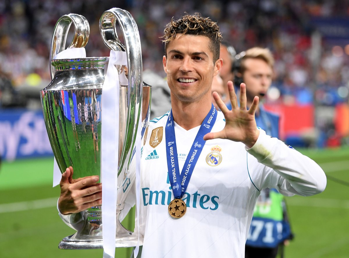 #OTD day in 2018, Cristiano Ronaldo becomes 1st player to win the #UCL 5 times...       pic.twitter.com/QJnUTnAq2g